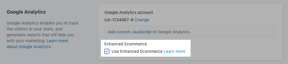 setting up enhanced ecommerce analytics tracking