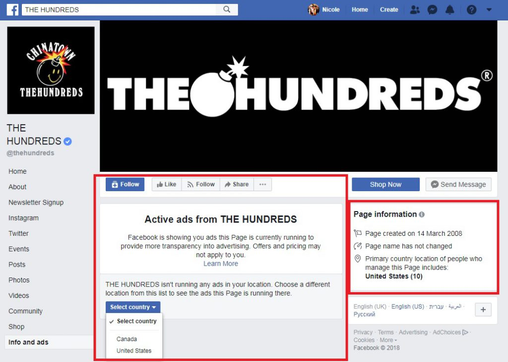 spying on facebook ads