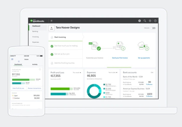 Quickbooks online accounting platform