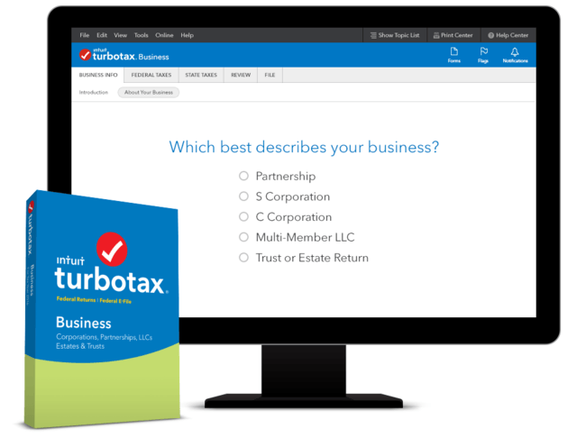 TurboTax downloadable Windows app