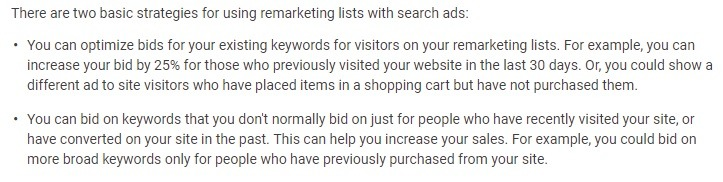 google remarketing lists tips