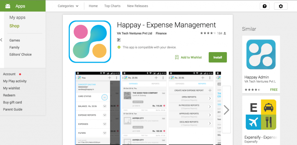 Happay expense management