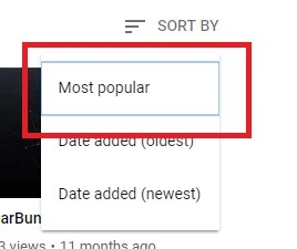 how to sort by you tube filter