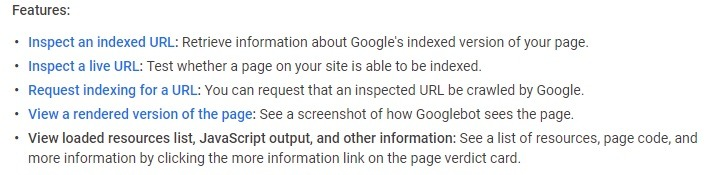 Google's URL Inspection Tool