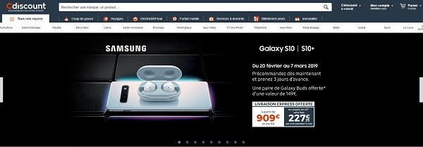 CDiscount online marketplace - france