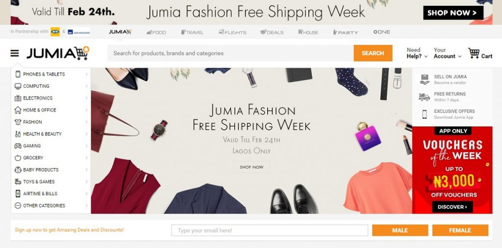 selling products on Jumia