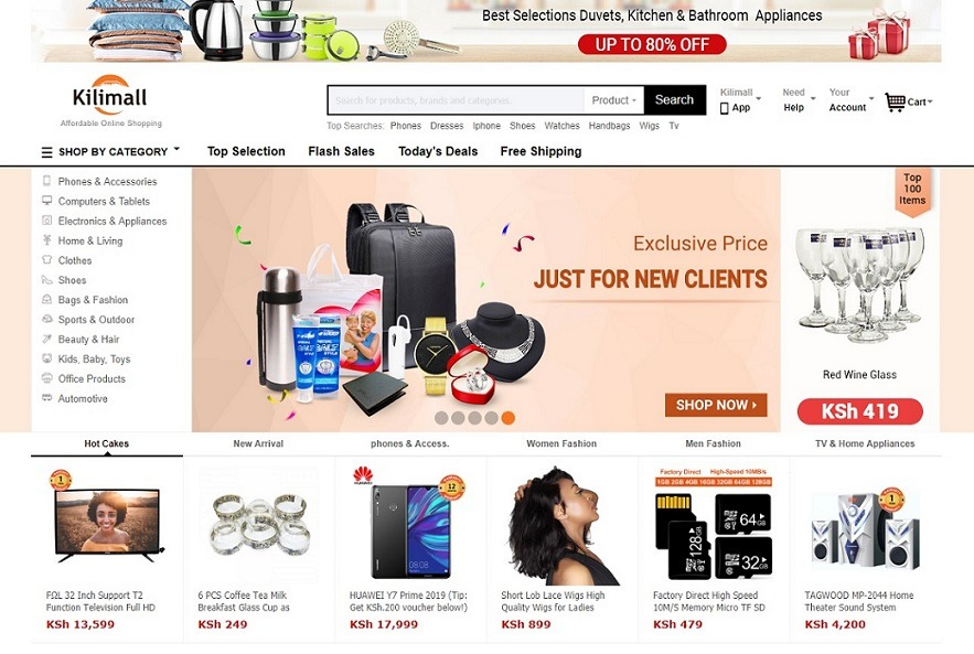 selling products on kilimall online store