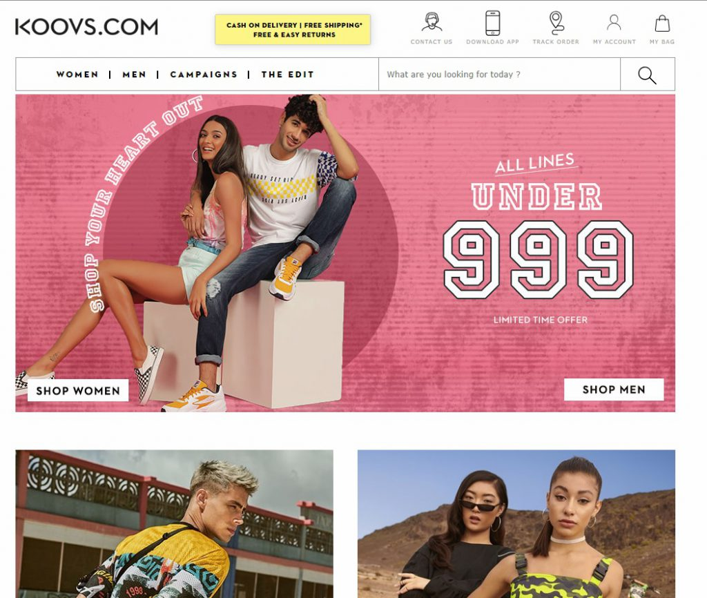 popular online clothing store koova