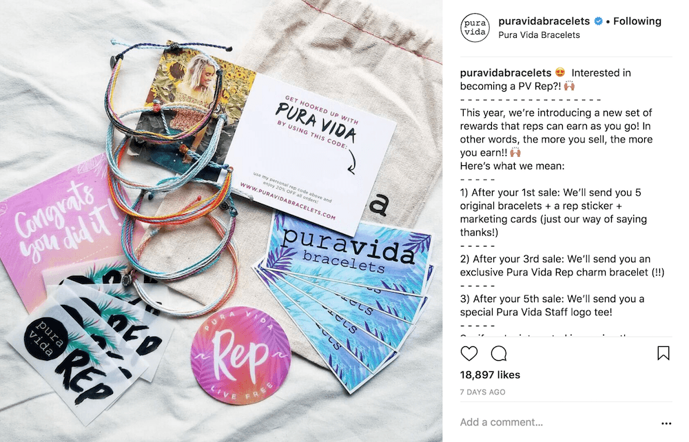 Pura Vida influencer program