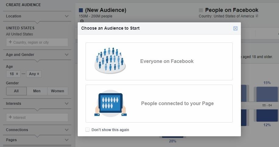 FB audience insights setup