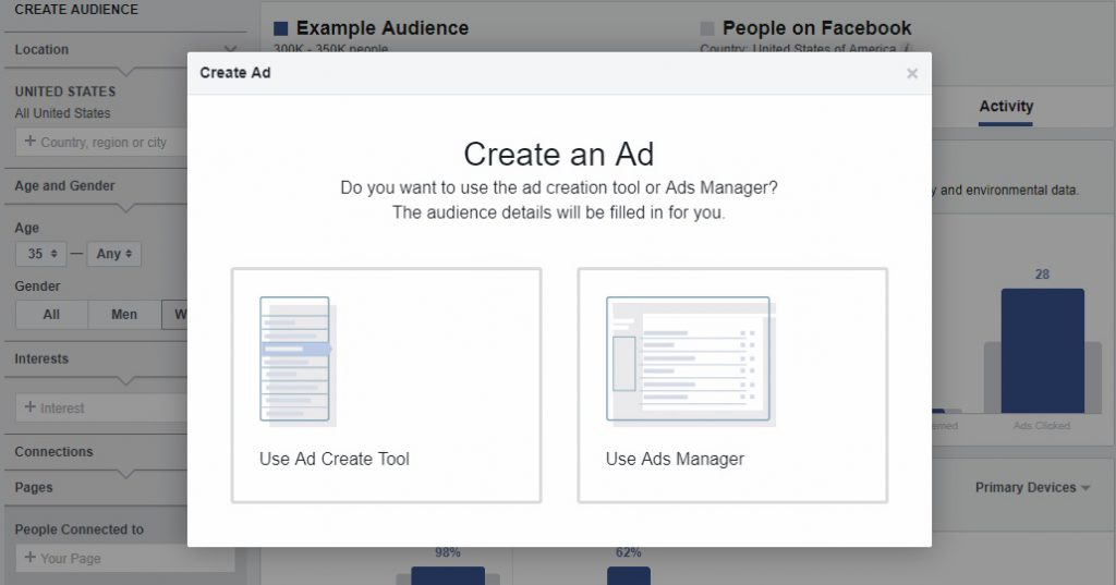 save audience in Facebook audience insights 2