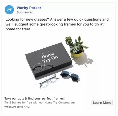 online store ad example facebook
