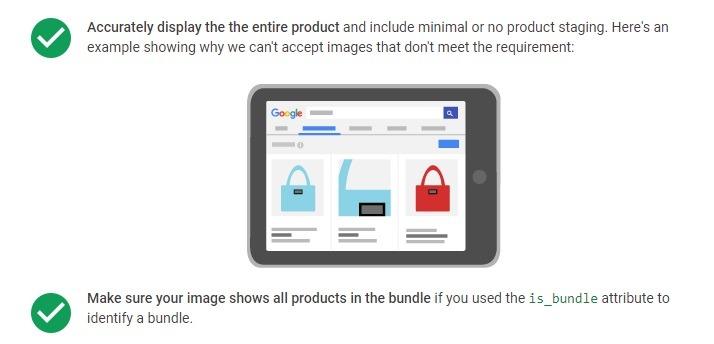 shopping image options google