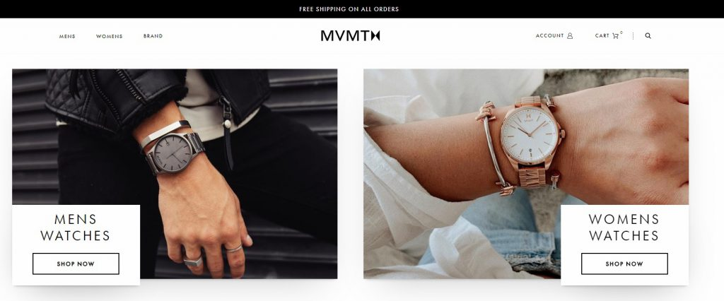 MVMT winning shopify plus store