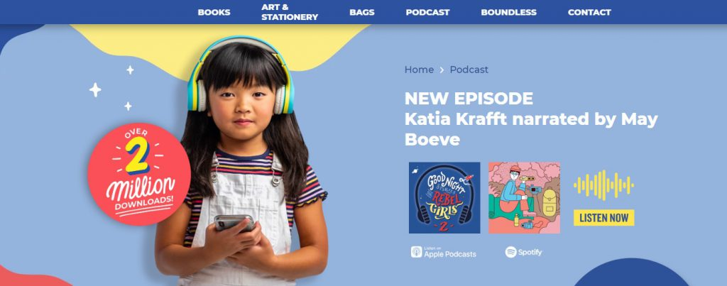 Rebal Girls ecommerce podcast example