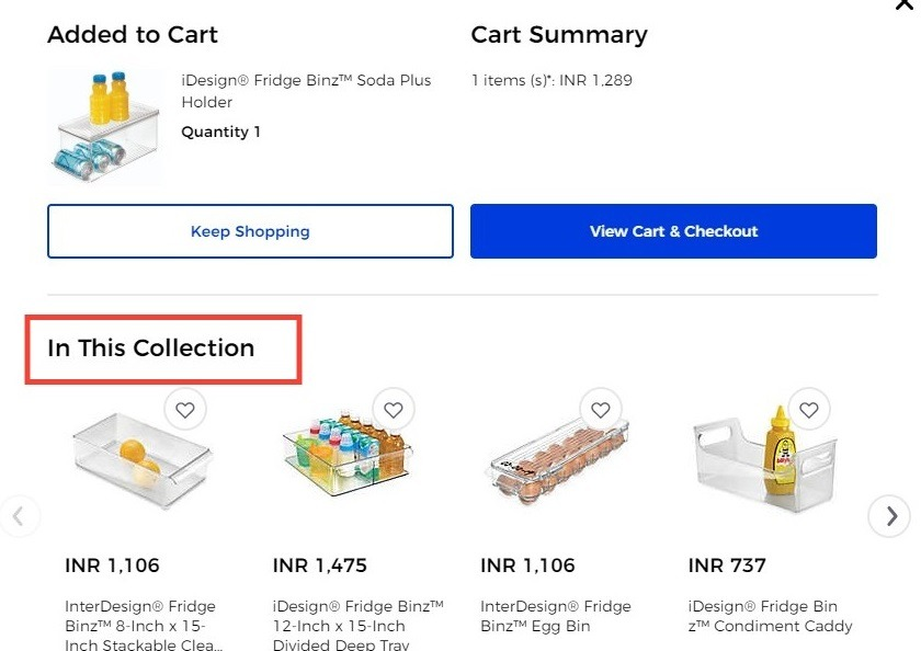 related products on product page