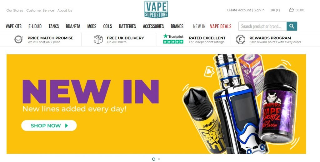 vape superstore Shopify plus store