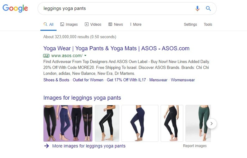 example of generic search ads
