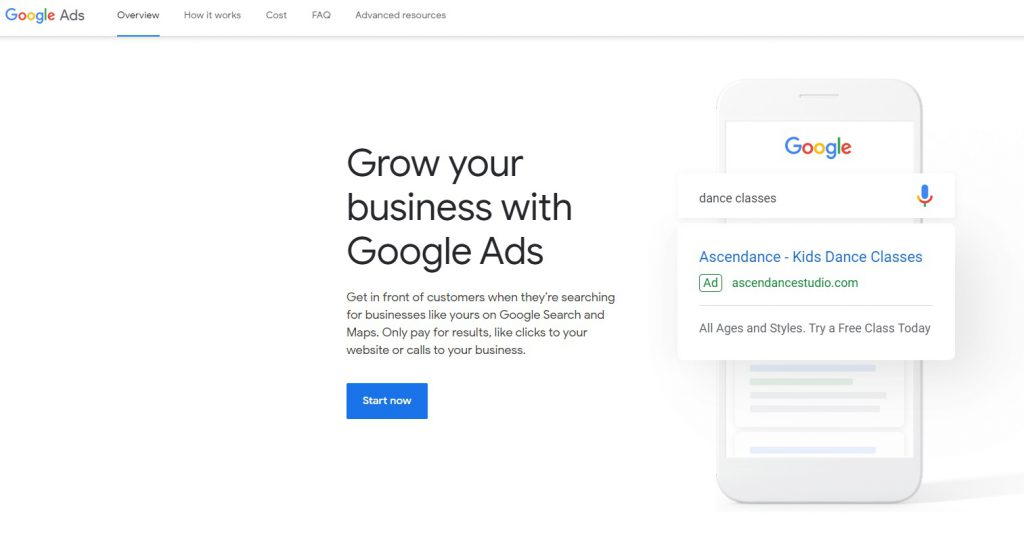 how to set up google ads account 1