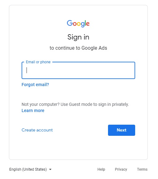 how to set up google ads account 2