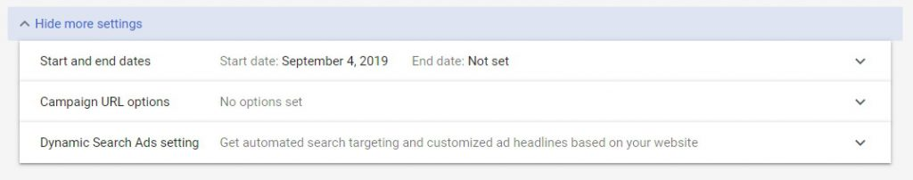 how to set up first google campaign step 6