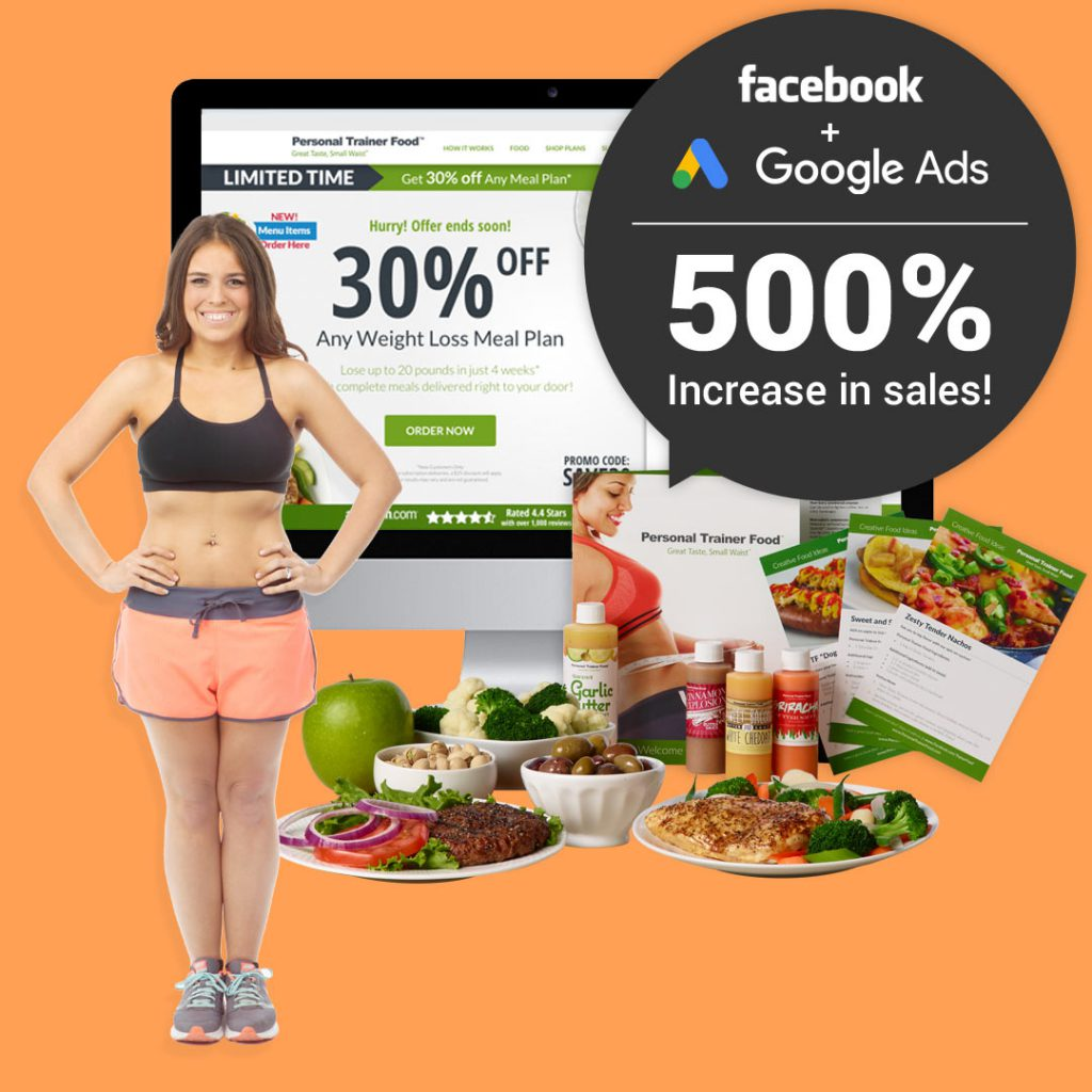 ecommerce google ad example personal trainer