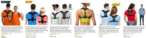 Amazon top posture correctors