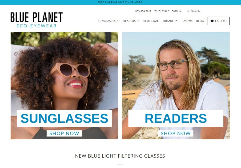 Blue Planet shopify store example