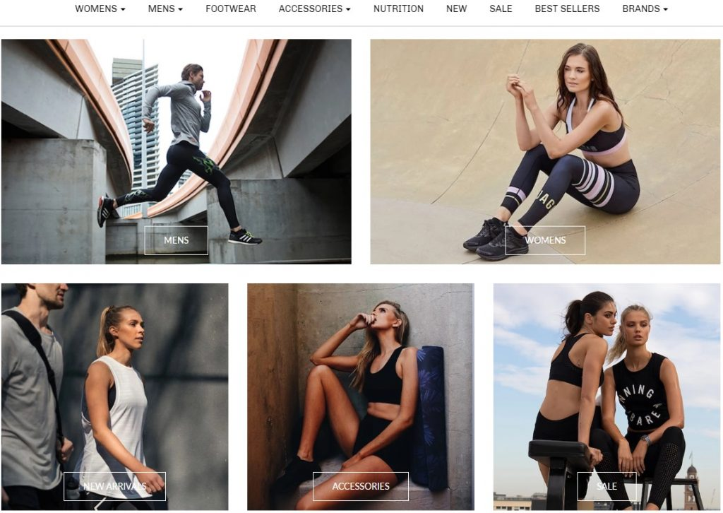 lux fitness shopify store example