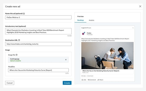 LinkedIn ads for eCommerce