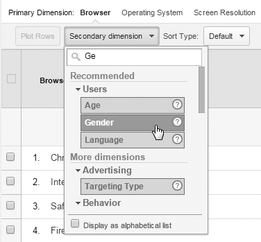Google Analytics' multi-channel funnel reports selection