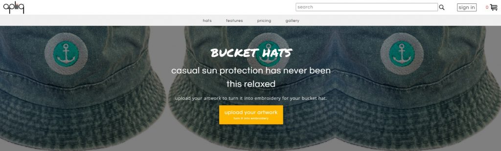 print on demand bucket hats apliiq