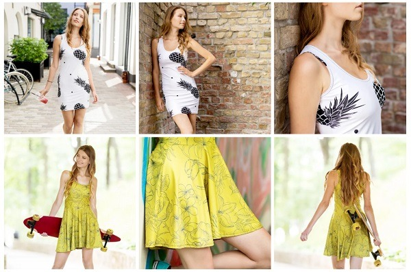 print on demand dresses and skirts printful