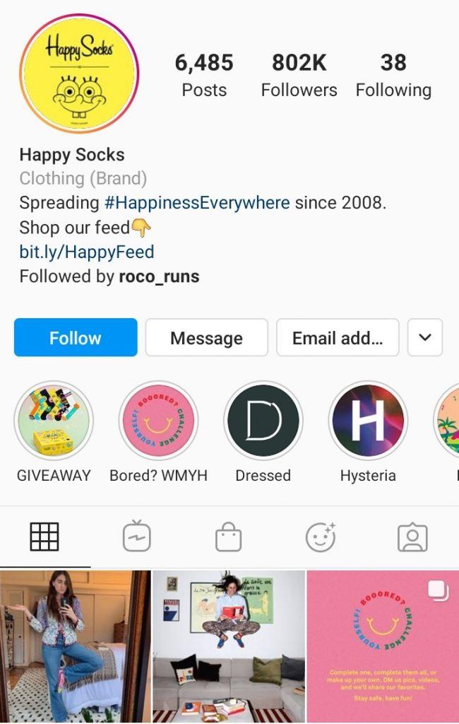 ecommerce example good instagram account 2