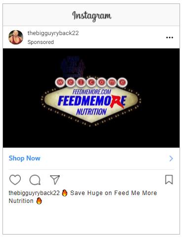 eCommerce Instagram ad example