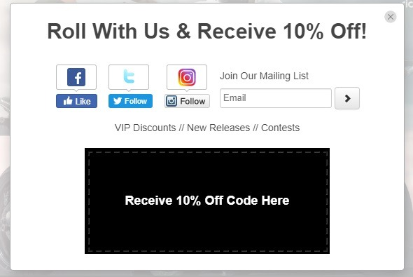 popup example to grow social followers