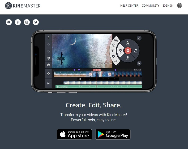 Kinemaster free video editor for eCommerce
