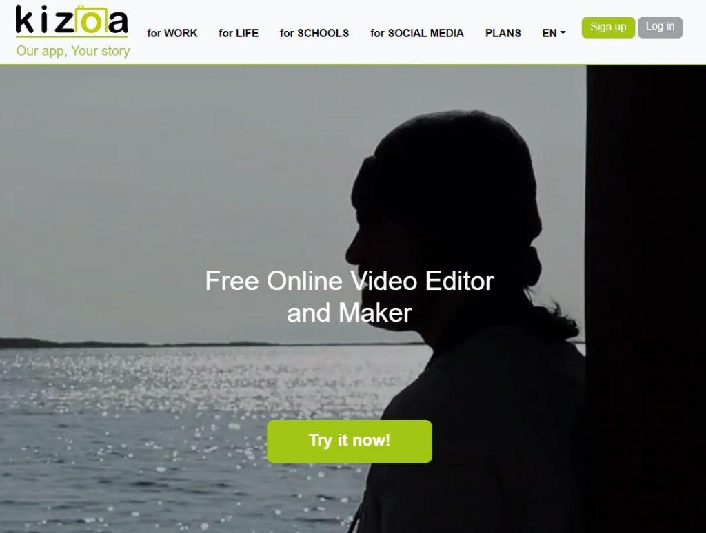 Kizoa video editor and marker