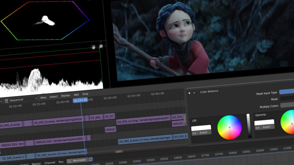blender free video editing software