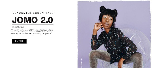 Blackmilk online store lookbook example 2