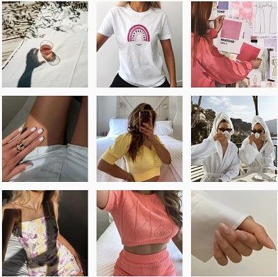 Glamorous instagram content example
