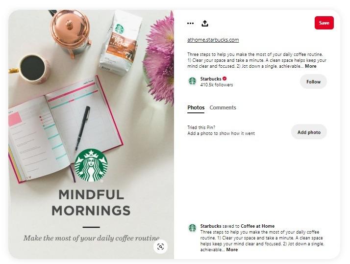 eCommerce pinterest ad examples