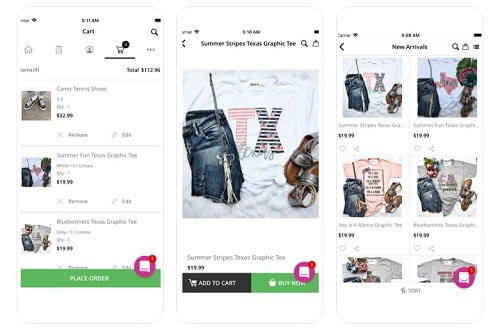 envy stylz eCommerce app example