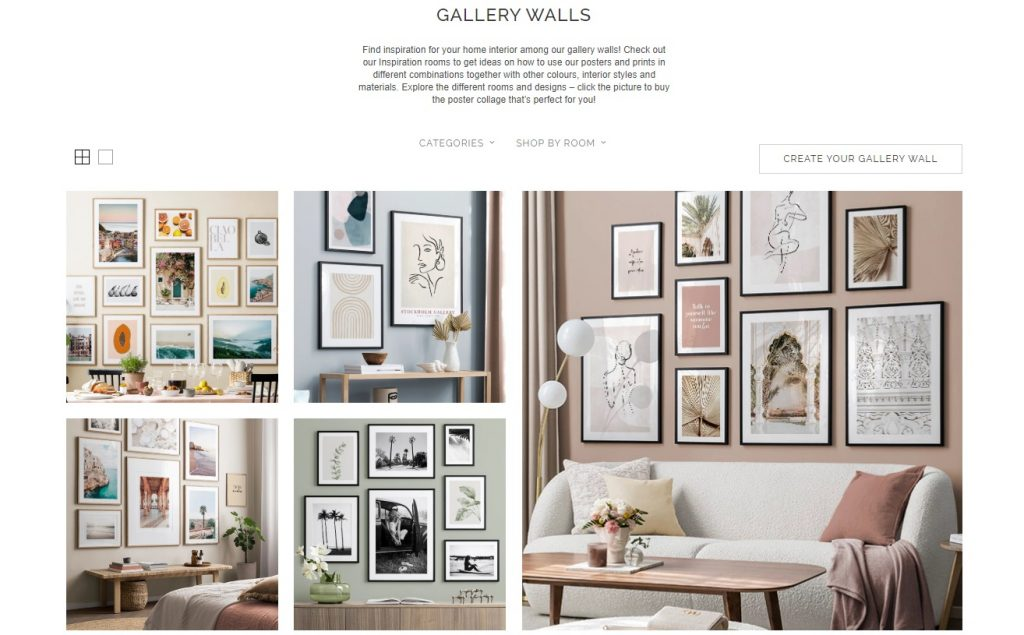 gallery wall selling example