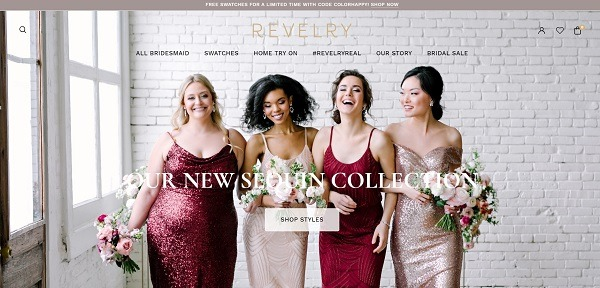 revelry Commerce clothing store example