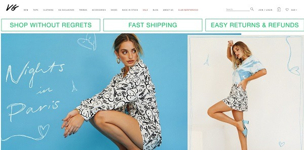 verge girl Commerce clothing store example