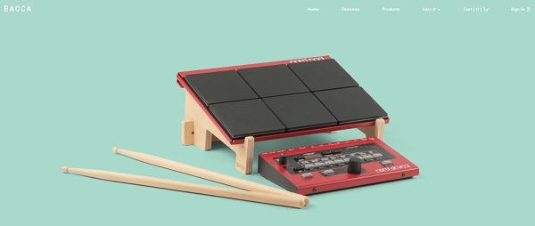Bacca eCommerce website examples