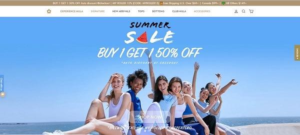 Mula online ecommerce website example