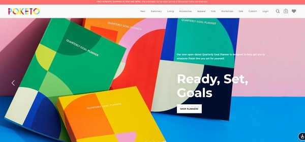 Poketo eCommerce website example