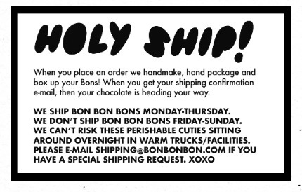 creative shipping policy example